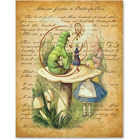Alice in Wonderland - Advice From a Caterpillar - 11x14 Unframed Alice in Wonderland Print ()