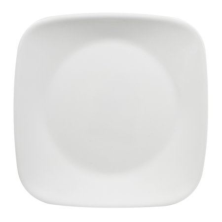 "Corelle 6.5"" Pure White Square Bread & Butter Plate"