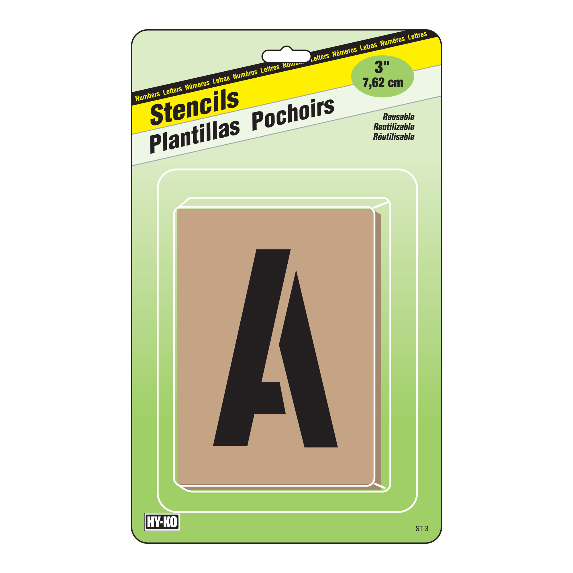 """3"""" Letters and Numbers Stencils"""