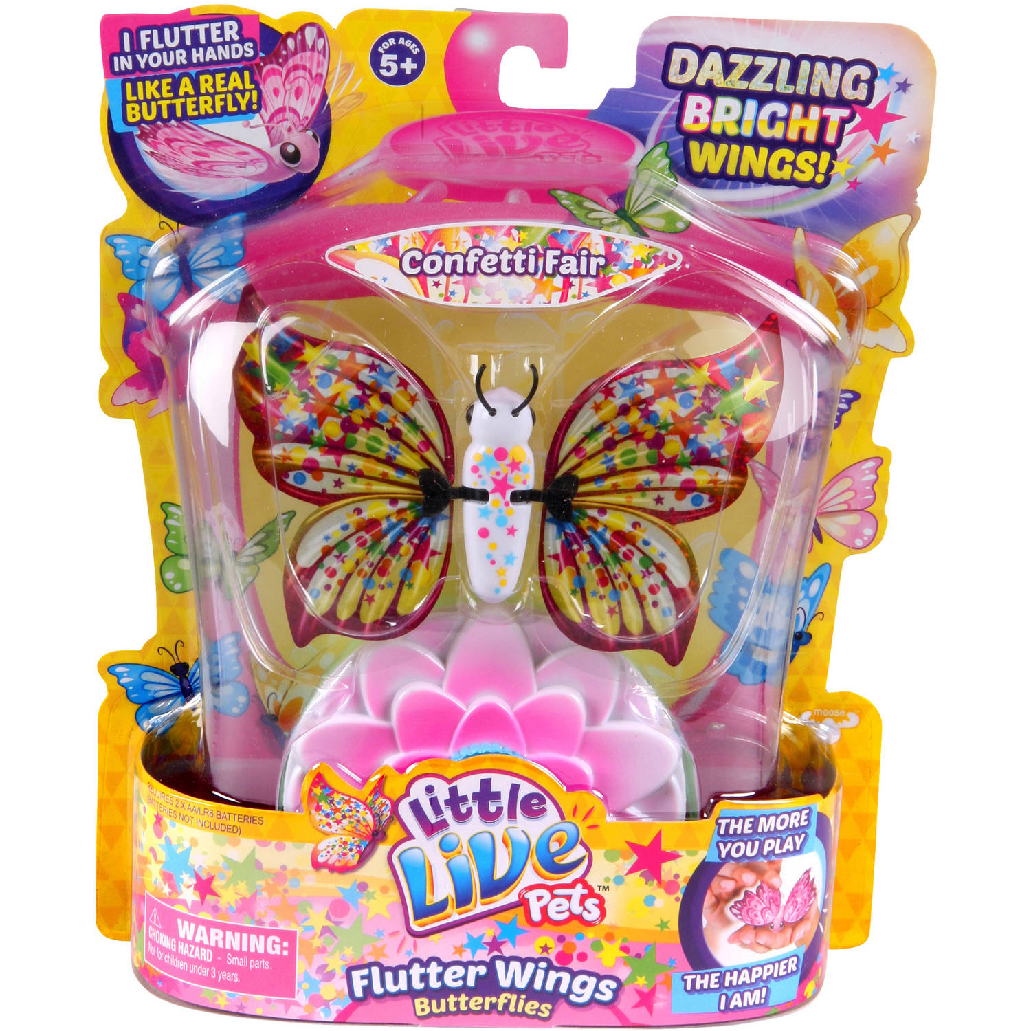 Moose Toys Little Live Pets Season 3 Butterfly Starter Pack, Confetti Fair