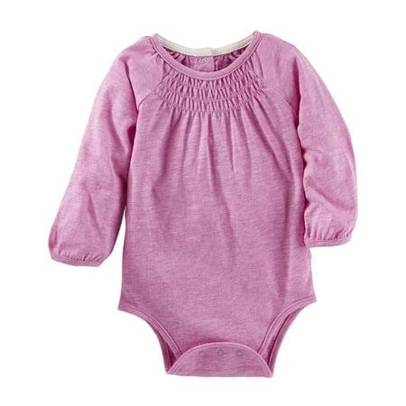 Carter's OshKosh B'gosh Baby Clothing Outfit Girls Smocked Neon Bodysuit - Neon Outfit