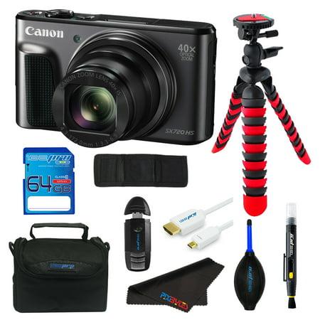 Canon PowerShot SX720 HS Digital Camera + SD Card + Tripod + Pixi Starter Advanced - Digital Starter Kit