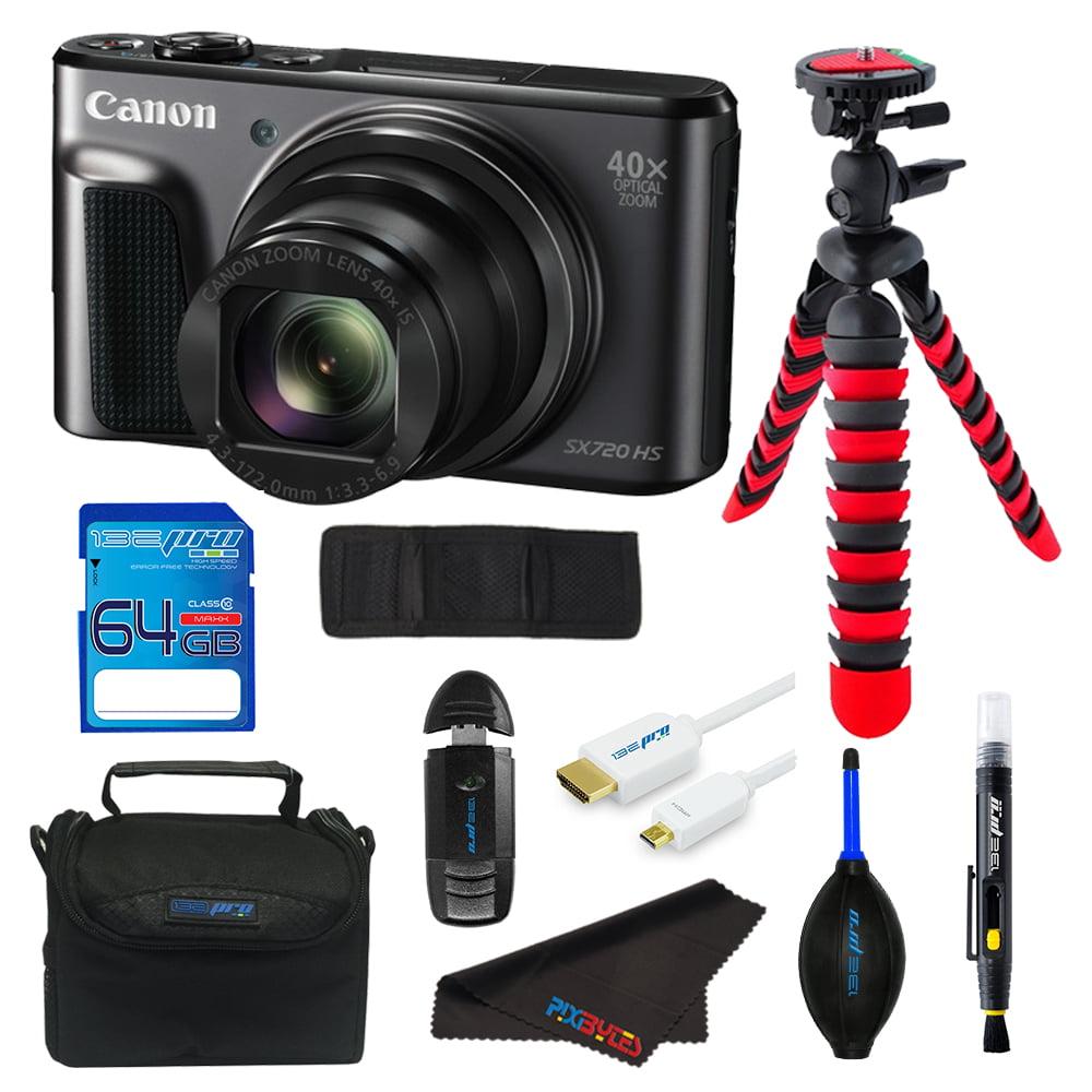 Canon PowerShot SX720 HS Digital Camera + SD Card + Tripod + Pixi Starter Advanced Kit