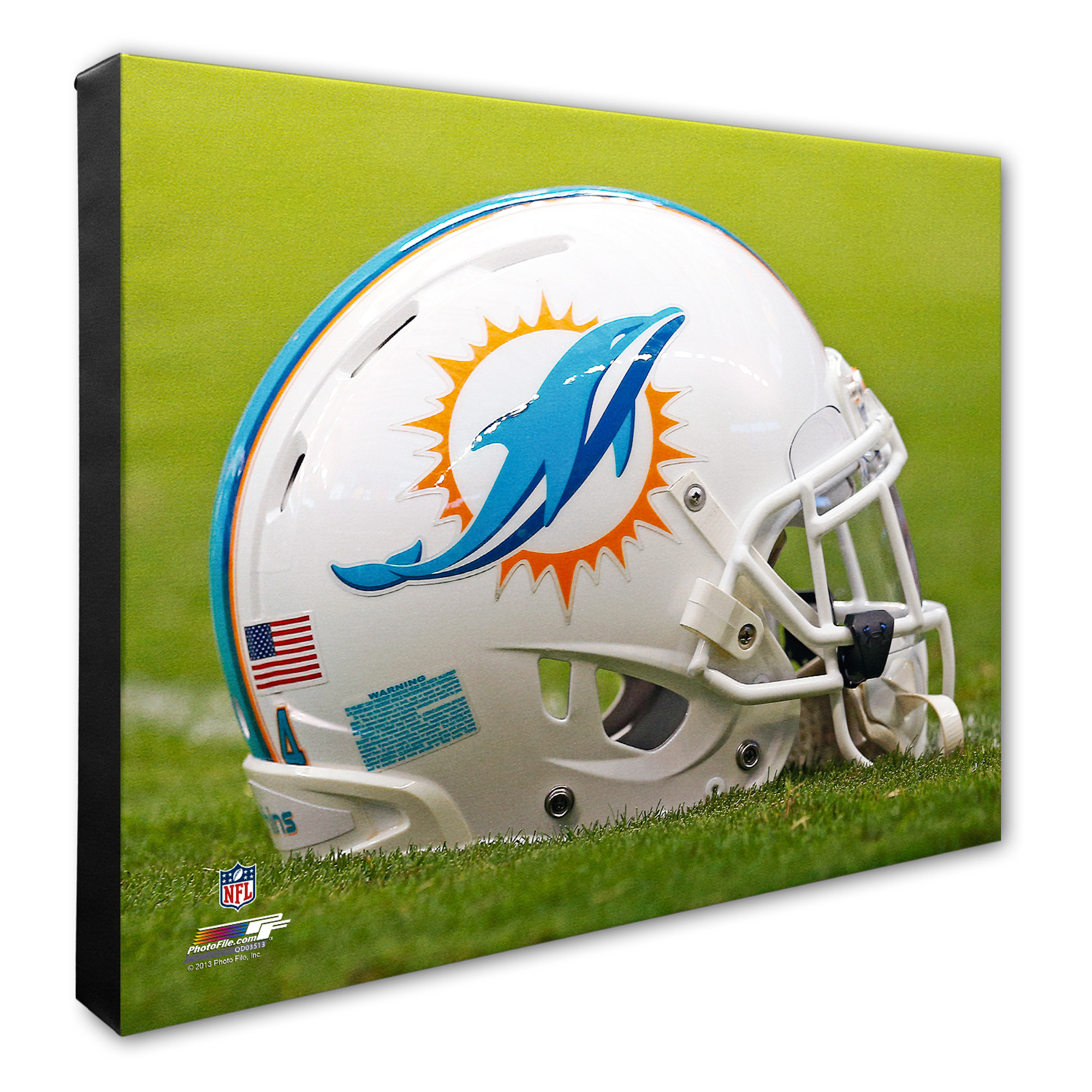 "Miami Dolphins 16"" x 20"" Helmet Photo - No Size"