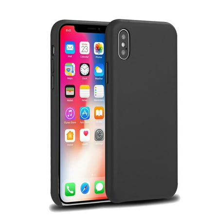 New iPhone X Case, Ultra-thin Slim fit Shell Hard Plastic Soft Touch Feeling Full Protective Anti-Scratch Case, Lightweight Matte Finish Coating for Apple iPhone X -Grey (Grain Matte)