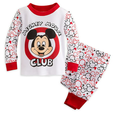 Disney Store Baby Boys Mickey Mouse Club Long Sleeve PJ Pals Pajama Set