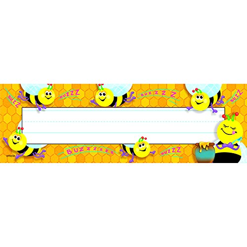 Trend Enterprises Bees Desk Toppers Name Plates (T-69014)