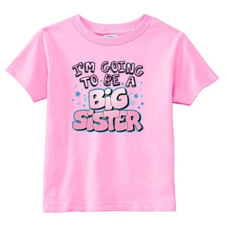 3t Baby Gap - Lil Shirts I'm Going to Be A Big Sister Youth & Toddler Graphic Tee Shirt (Pink, 3T)