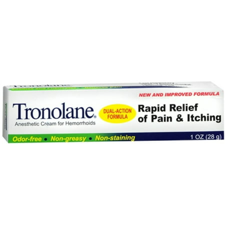 4 Pack - Tronolane Anesthetic Cream for Hemorrhoids 1 oz