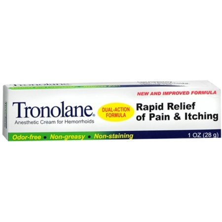 Tronolane Anesthetic Cream for Hemorrhoids 1 oz (Best Hemorrhoid Cream Uk)
