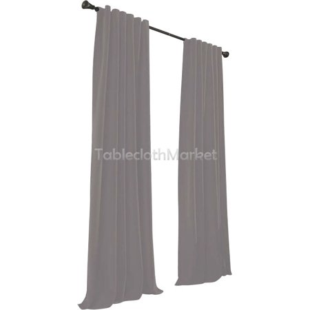 2 Polyester Panel Curtain 60 Wide X 108 Length Backdrop Background 24 COLORS