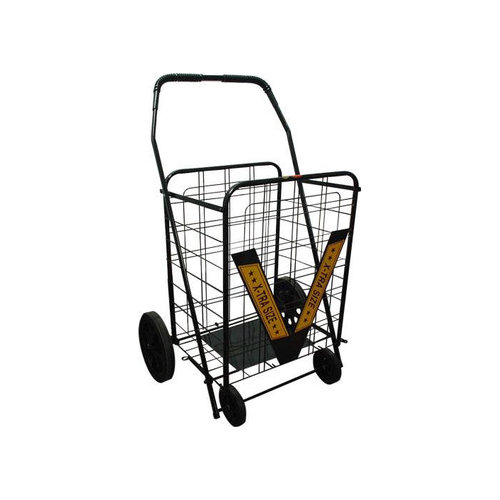 Trimmer 42'' Rolling Shopping Cart with Geometric Handle