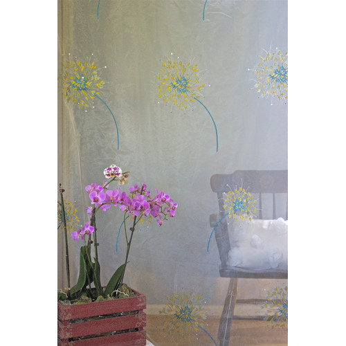 Debage Inc. The Romance Flower Nature/Floral Sheer Thermal Rod pocket Single Curtain Panel (Set of 2)