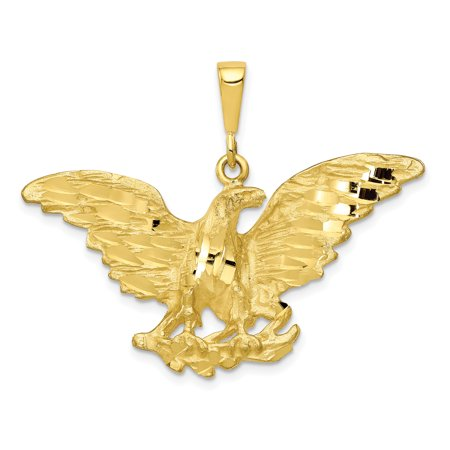 10k Yellow Gold Eagle Pendant Charm Necklace Bird Gifts For Women For Her
