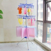 LHCER 3-Tier Collapsible Drying Rack Foldable Stand for Hanging Towels Baby Clothes Socks Underwear, Foldable Drying Rack,Drying Rack
