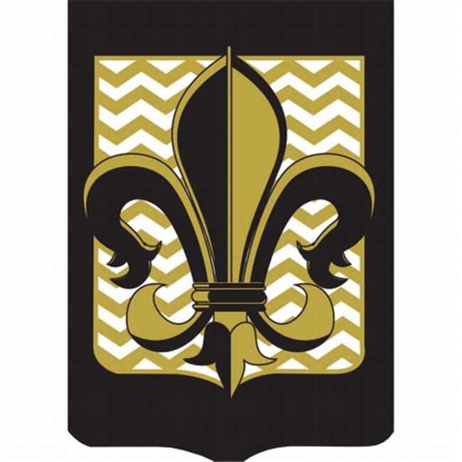 Dicksons Jozie B 556 Fleur De Lis Flag with Gold Chevron, Large