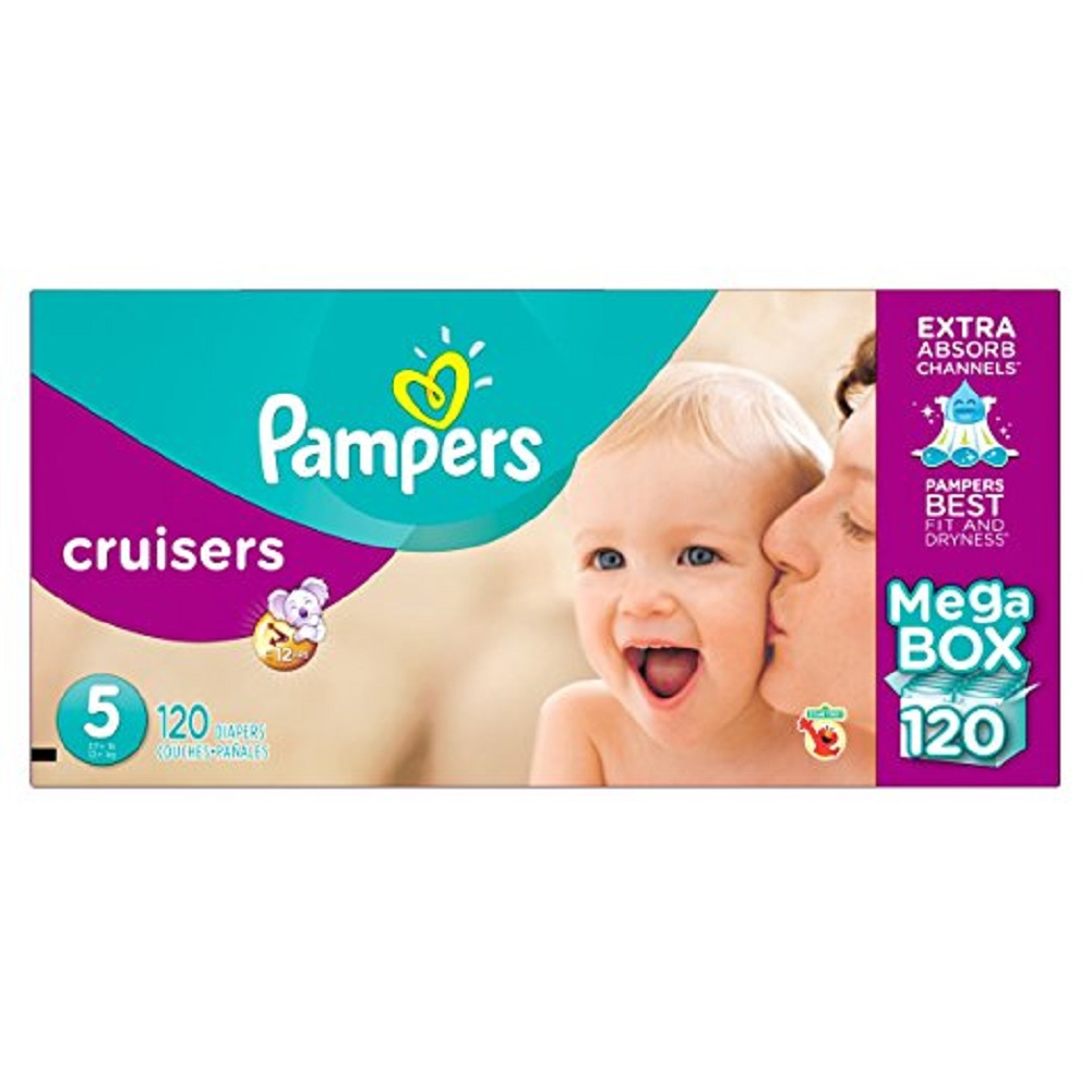 Pampers Cruisers Diapers, Size 5 (27+ lbs.), 120 ct. by Pampers