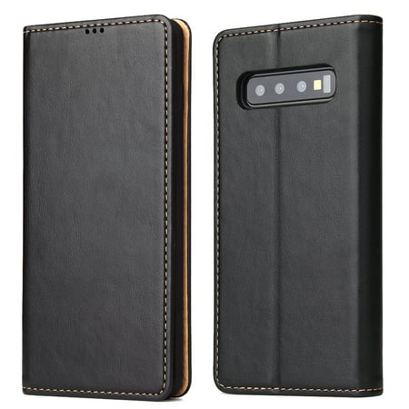 Samsung Galaxy S10e Folio Case, Dteck Magnetic Flip Premium Leather Stand Wallet Case Cover with Card Slots,Black
