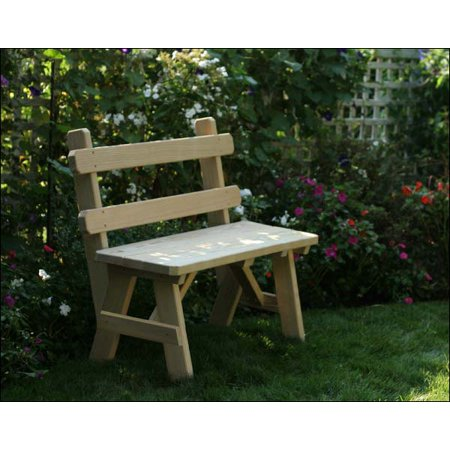 Surprising 96 Treated Pine Traditional Garden Bench With Back Pabps2019 Chair Design Images Pabps2019Com