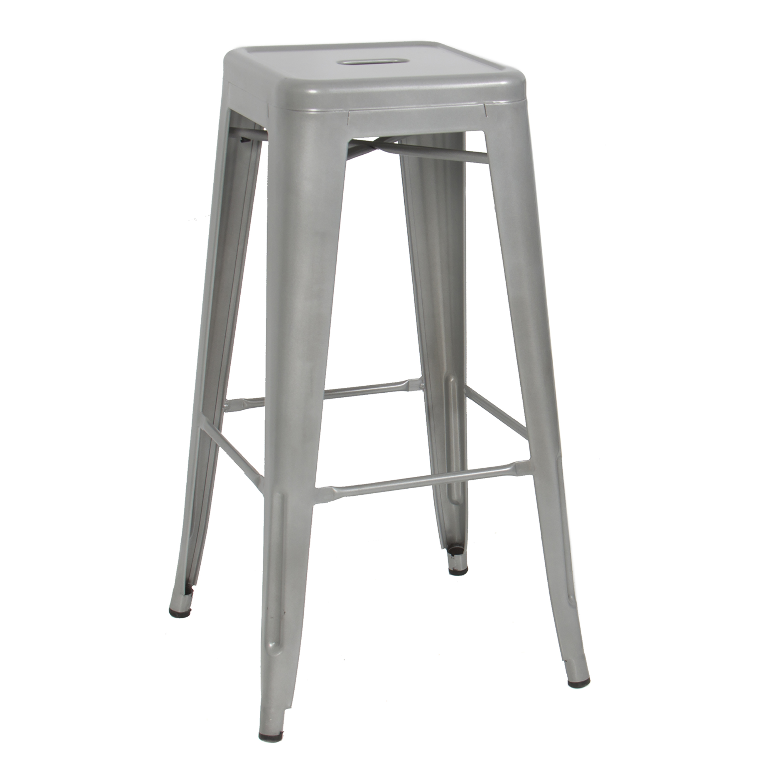 Best Choice Products 30  Set of 2 Modern Industrial Backless Metal Bar Stools (Silver) - Walmart.com  sc 1 st  Walmart : bar stools metal - islam-shia.org