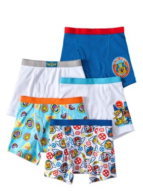 Nickelodeon PAW Patrol Boys Underwear, 5 Pack Boxer Briefs (Little Boys & Big Boys)