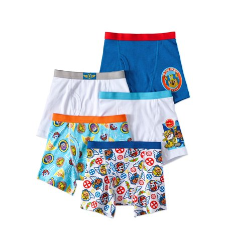 PAW Patrol Boys Underwear, 5 Pack Boxer Briefs (Little Boys & Big Boys)