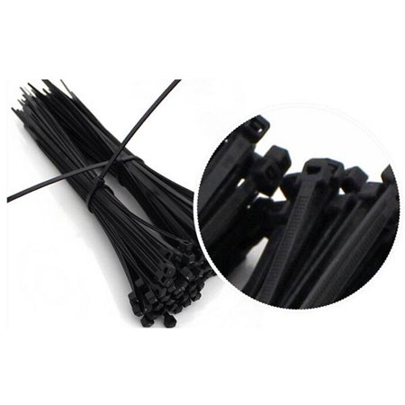 100pcs 12inch Nylon Plastic Zip Trim Wrap Cable Loop Ties Wire -