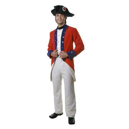 Adult Colonial Soldier Costume Set - XXL - Xxl Costume