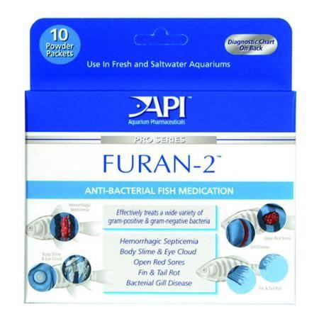 Mars Fishcare API Furan-2 Aquarium Powder Packets, 10 Ct