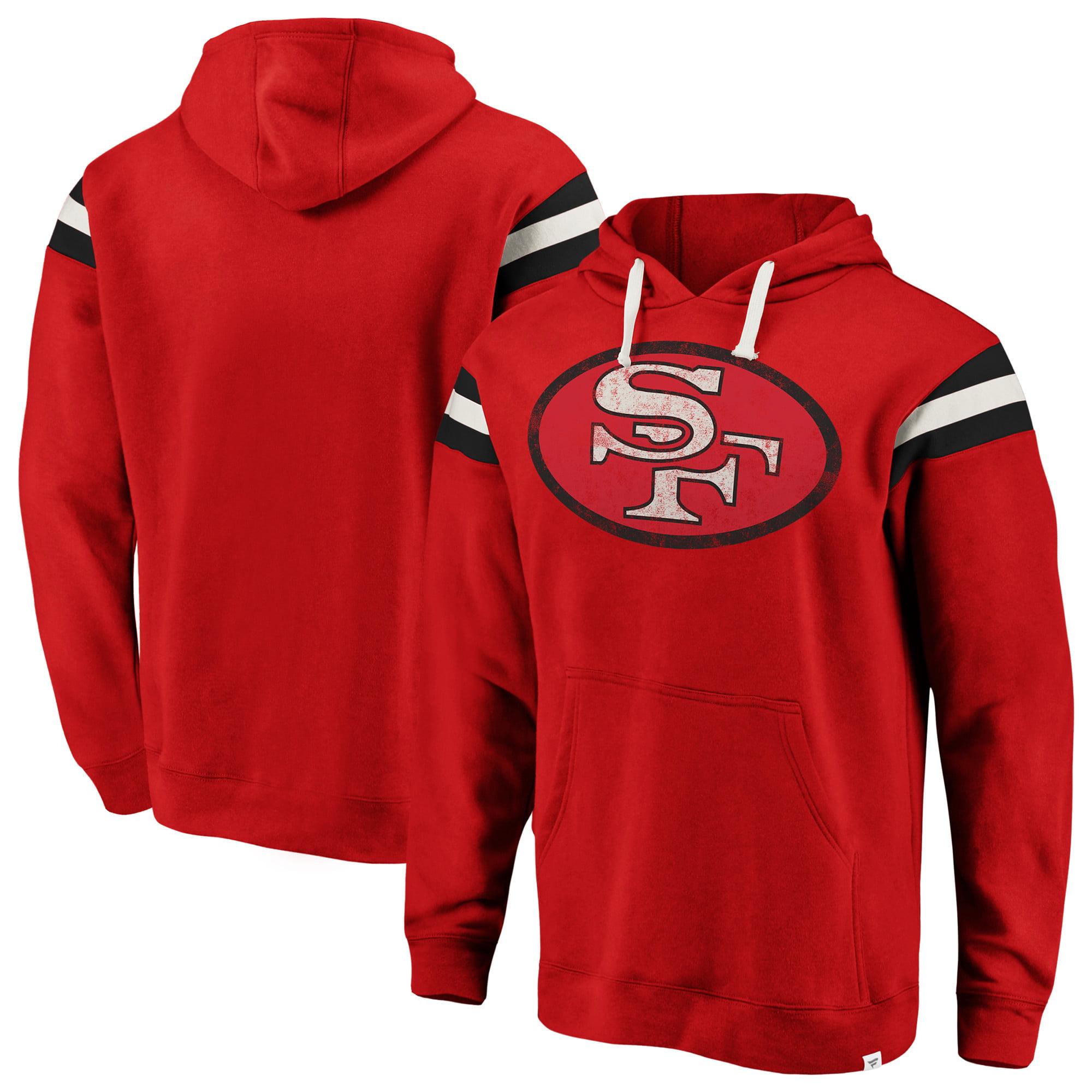 fee322e1f San Francisco 49ers NFL Pro Line by Fanatics Branded Big & Tall True  Classics Retro Stripe Pullover Hoodie - Scarlet - Walmart.com