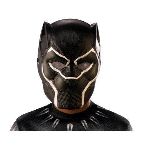 Plastic Half Mask (Black Panther Plastic Half Mask Boys Child)