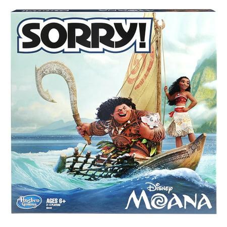 Sorry! Game: Disney Moana Edition (Halloween Games On Disney Channel)
