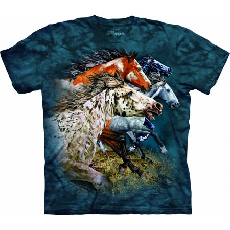 Blue 100% Cotton Find 13 Horses Realistic Graphic - Find 13 Horses