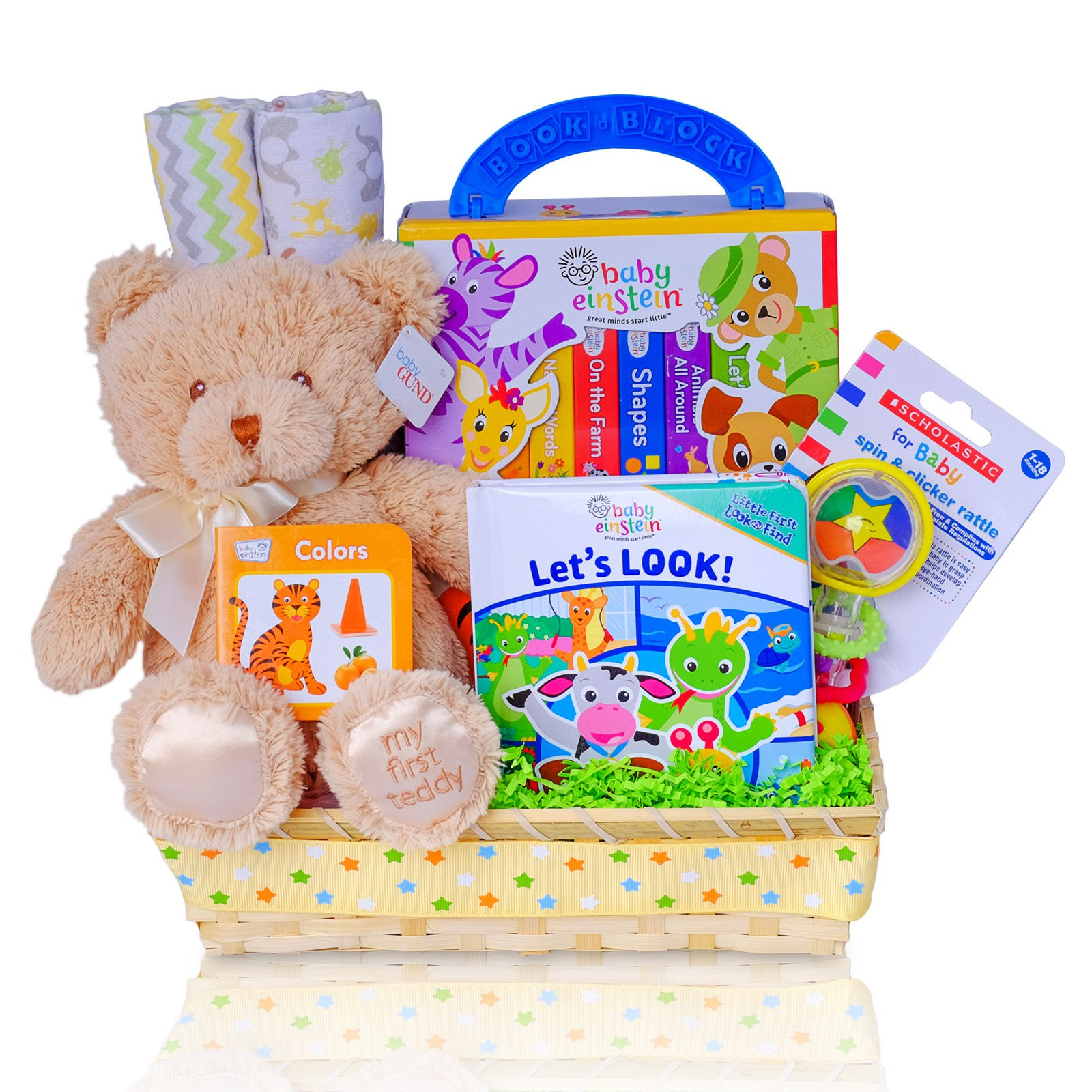 Cashmere Bunny Baby Einstein Read With Me Gift Basket by Cashmere Bunny