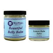 WiseWays Beautiful Belly Balm & Natural Lemon Salve, Twin Pack