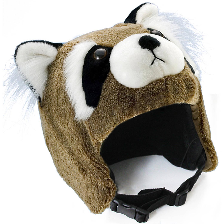 crazeeHeads Benny the Bandit Raccoon Plush Helmet Cover