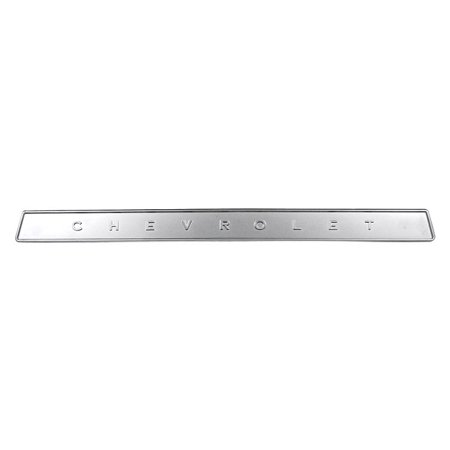 Chevrolet Trunk Emblem - 1964-1966 Chevy Truck Glove Box Door Emblem Chevrolet Silver Painted