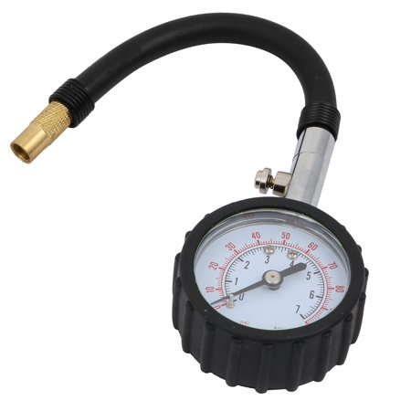 Water Air Compressor 0-100psi Dual Scale Pressure Gauge with Tube Connector - image 3 de 3
