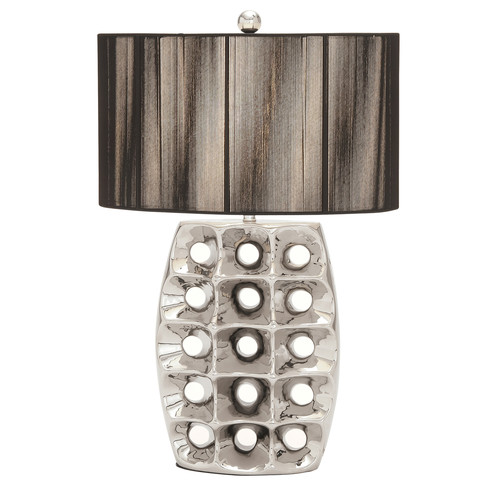 EC World Imports 28'' H Table Lamp with Drum Shade by EC World Imports