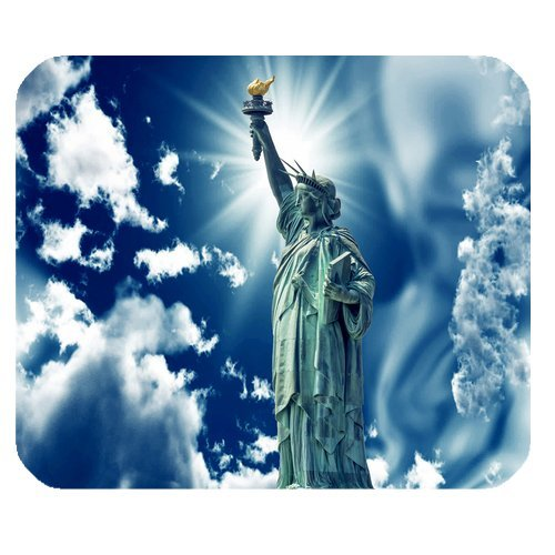 MKHERT Statue of Liberty With Beautiful Sky Rectangle Mousepad Mat For Mouse Mice Size 9.84x7.87 inches