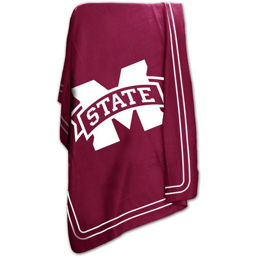 """Logo Chair NCAA Mississippi State 50"""" x 60"""" Classic Fleece Throw"""