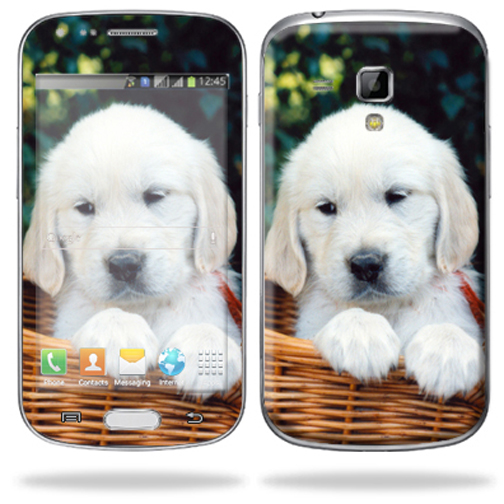 Mightyskins Protective Skin Decal Cover for Samsung Galaxy S Duos S7562 Cell Phone wrap sticker skins Puppy