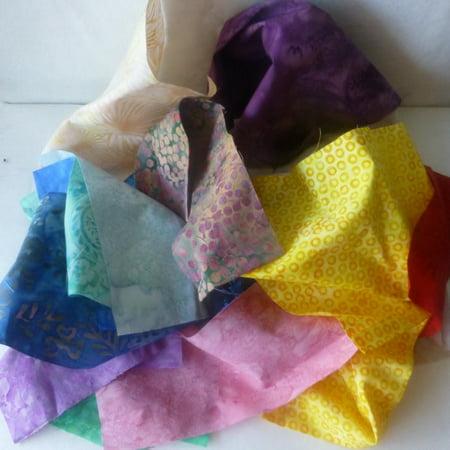 Designer Cotton Fabric Batik Scraps, Strips, Fabric Pieces, Remnants, Scrap Bag