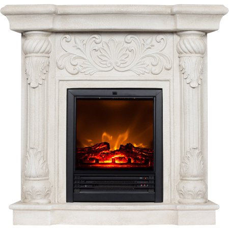 Polyfiber Electric Fireplace With 41 Mantle At Winter Supply Store
