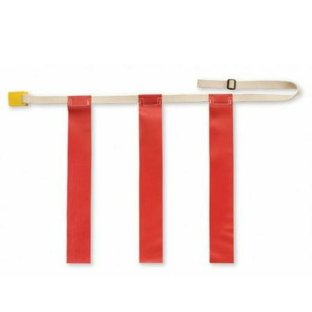 Triple Threat Flag Football Belts - TRIPLE THREAT Flag Football Belts, Red, X-Large (EACH)