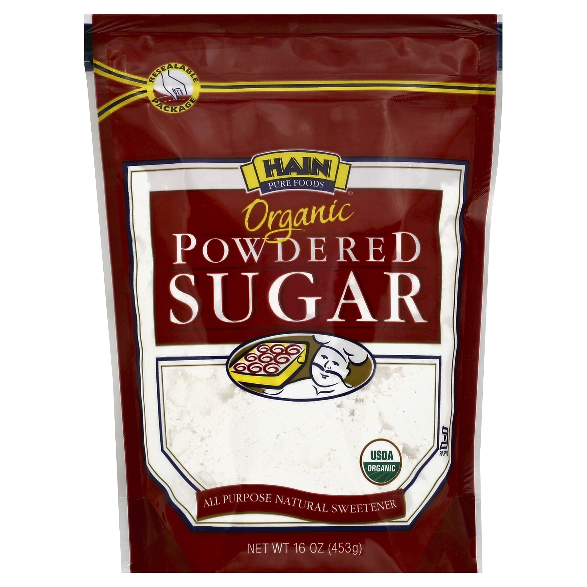 Hain Pure Foods Organic Powdered Sugar 16 Ounce Unit