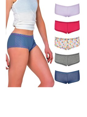 38558c2f93db Product Image Emprella Womens Underwear Boyshort Panties - 5 Pack Colors  and Patterns May Vary