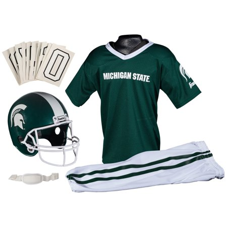 Franklin Sports NCAA Michigan State Spartans Uniform Set, Small - Michigan State Spartans Helmet