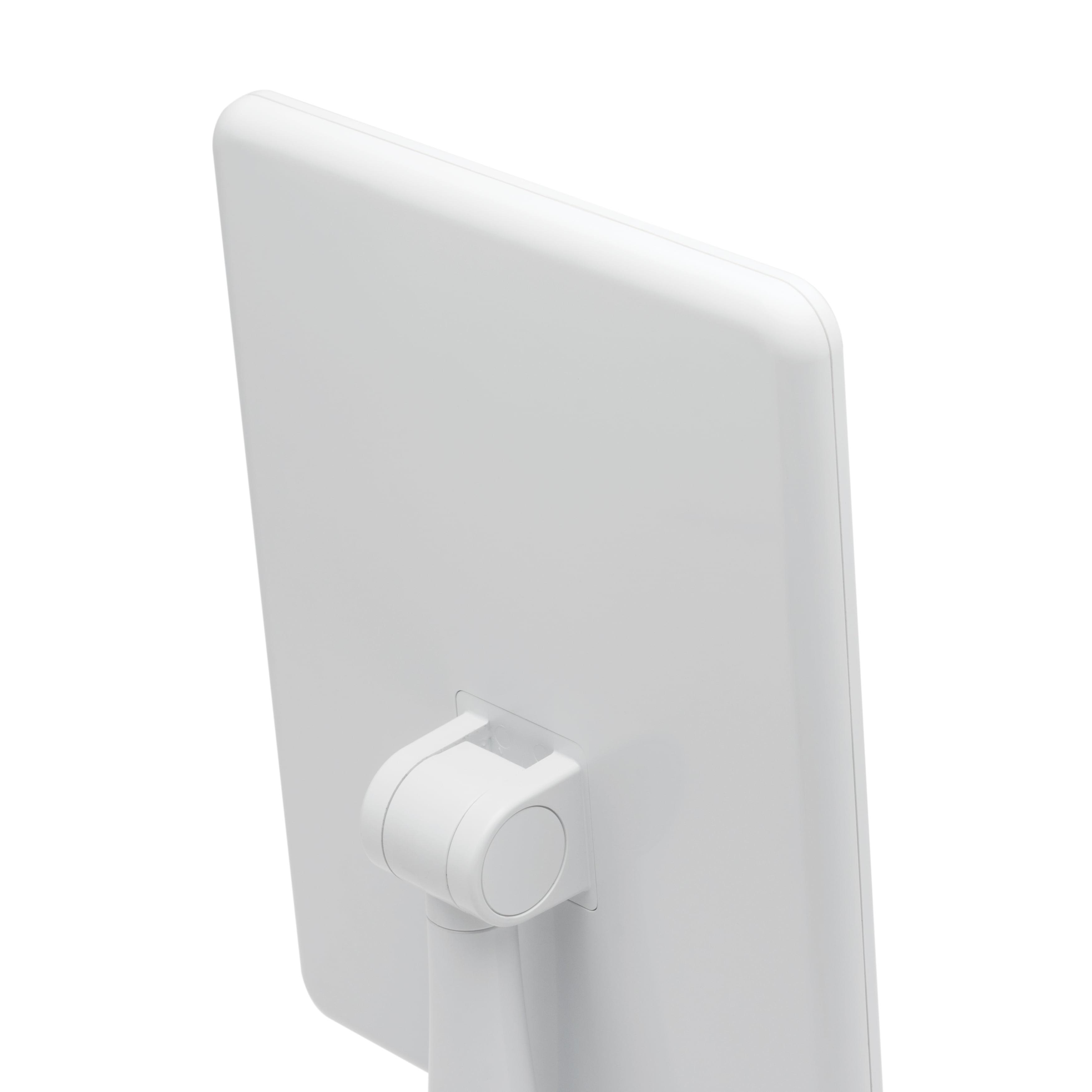 "iHome 7"" x 9"" Reflect iCVBT2 Adjustable Vanity Mirror with Bluetooth Audio, Hands-Free Speakerphone, LED Lighting, Siri & Google Support USB Charging, ..."