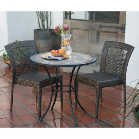 Belham Living  Brisbane All Weather Wicker and Mosaic Patio Bistro Set ()